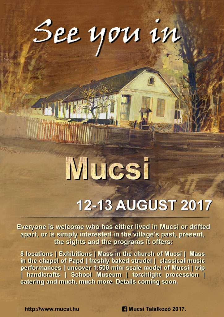 See you in Mucsi 2017